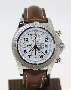 Breitling is renowned for producing watches that stand out in a crowd. This 48mm Super Avenger Chronograph is no exception and is complete with Box and Pape