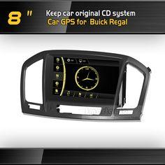 """Miễn phí tàu 8"""" xe gps với bt cho Buick Regal/opel phù hiệu/Vauxhall 2010 2011 giữ phong cách ban đầu đen/nâu khung hình cho các tùy chọn"""