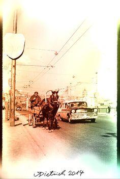 Kutsche auf der Galatabrücke, Istanbul
