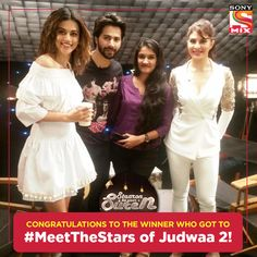 Congratulations to the winner of #MeetTheStars who got to meet the Judwaa 2 cast! Keep participating in the contests and you can win a chance too!  Suren - Radio Mirchi Taapsee Pannu Varun Dhawan Jacqueline Fernandez #fashion #style #stylish #love #me #cute #photooftheday #nails #hair #beauty #beautiful #design #model #dress #shoes #heels #styles #outfit #purse #jewelry #shopping #glam #cheerfriends #bestfriends #cheer #friends #indianapolis #cheerleader #allstarcheer #cheercomp  #sale #shop…