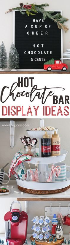 So many ideas for a hot chocolate bar during the holiday season. What a fun tradition!