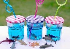 Nordlicht im Schwarzwald: Ein Marmeladenglastrinkgefäss für die kleine Meerjungfrau auf dem Kindergeburtstag