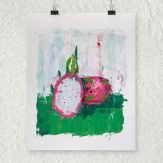 Dragon Fruit Painting Original Art Oil Painting by ebuchmann