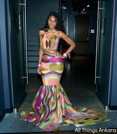 All Things Ankara Best Dressed Women at GWB Comission's Annual GWB Ball ~ Ghanaian fashion African Prom Dresses, African Dresses For Women, African Attire, African Wear, African Fashion Dresses, African Women, Ankara Fashion, Men's Fashion, African Style
