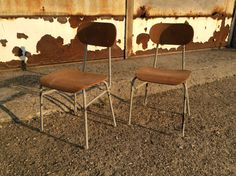 Pair of vintage kid chairs  2 school chairs  by DioVintageShop