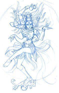 Shiva Nataraja : SKETCH: WIP by ninjafaun.deviantart.com