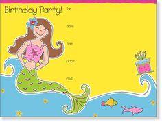 SanLori Designs Merry Mermaid Invitations - 8 ct - Free Shipping #YoYoBirthday