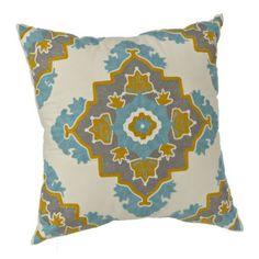 Yellow and Gray Aztec Medallion Pillow   Kirklands