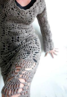 crochet dress - VMSomⒶ KOPPA: virkattu MEKKO - ohje
