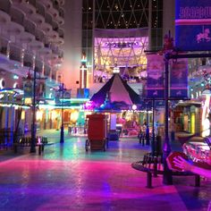 The Boardwalk Aboard Allure of the Seas at Night
