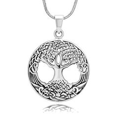 925 Oxidized Sterling Silver Celtic Knot Ancient Tree of Life Open Round Pendant Necklace 18'', Jewelry for Women - Nickel Free Chuvora, http://www.amazon.com/dp/B00ABFOGW2/ref=cm_sw_r_pi_dp_wHbirb1Y6WM5Q