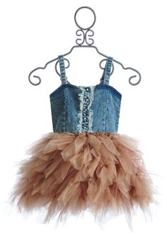 Ooh La La Couture Rose Gold Denim Dress So in love with this!!! My daughter would rock this outfit......