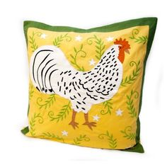 Colorful Rooster Pillow - Rennie & Rose Design Group