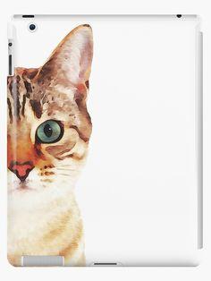 'Cat face watercolour' iPad Case/Skin by pakanta Watercolor Face, Watercolor Animals, Watercolor Illustration, Watercolor Paintings, Animal Paintings, Animal Drawings, Cat Drawing, Pet Portraits, Hairless Cats