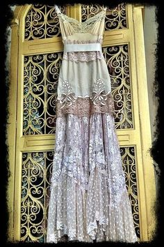 Adorable ladies Cream lace boho maxi wedding party dress Mermaid Miss | Fashion And Style