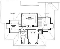 #653740 - 1.5 story, 3 bedroom, 3.5 bath Southern Country Farmhouse style house plan : House Plans, Floor Plans, Home Plans, Plan It at HousePlanIt.com