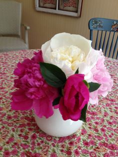 Last year's peony crop. I can't wait till this year!