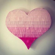 Ombre Colored Heart Piñata  Heart Shaped Piñata  by PomJoyFun