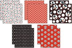 "Disney® Mickey Black/White/Red Paper Pack 12""X12"" 10 Sheets-2 Each/5 Textured Papers"