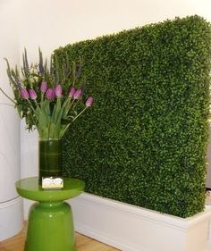 In our office at Martha Angus, Inc. the help of a hedge creates the quintessential partition.