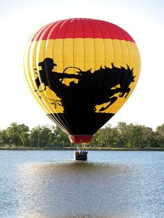 cool hot air balloon  hot air balloon  hot air balloon, Texas style..oh so brave ....so close to the water!!