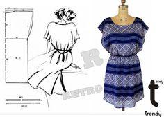 Cute summer dress. May need a lining, especially if made of chiffon