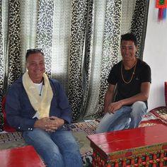 With my friend Rigzin heading to Diskit Monastary