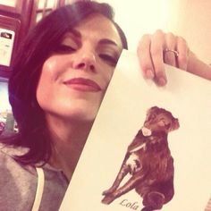 Lana & a drawing of Lola (from twitter).