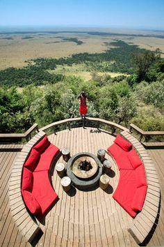Angama Mara's cantilevered decks offer sweeping views across the Maasai Mara