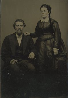 A striking Victorian tintype of a couple. #vintage #Victorian #portraits #couples