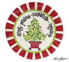 Use this plate as a Christmas decoration or serve your guests with it. Microwave and  sc 1 st  Pinterest & Hand Painted Ceramic Christmas Plate - Every Good and Perfect Gift ...