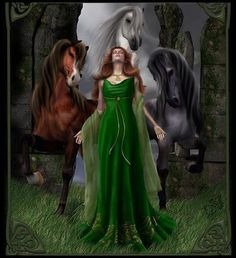 Epona,Celtic Goddess of fertility. And protector of horse, mules and donkeys.