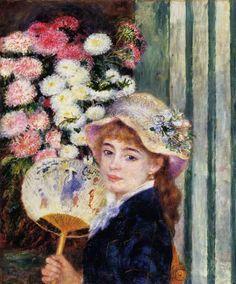MUJER CON ABANICO, 1879  Óleo sobre lienzo. Renoir.  Colección Sterling Clark