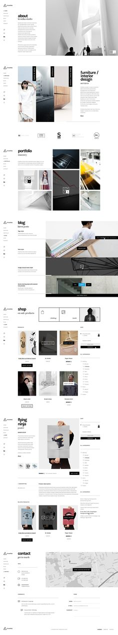 kronika on Behance #website #inspiration
