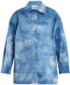 #ad SEE BY CHLOÉ Tie-dye point-collar cotton-blend jacket