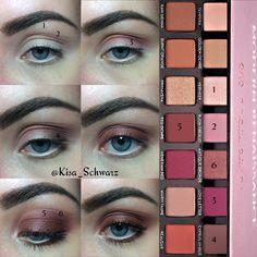Coral Makeup, Sparkly Makeup, Pretty Makeup, Modern Renaissance Tutorial, Abh Modern Renaissance, Eyeshadow Tips, Eyeshadow Makeup, Eyeshadows, Eyeliner