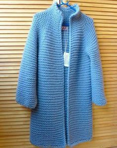 Colored # Knitted # Long # Cardigans # Knitted car models # # Knitted models or creations # # Cardigans # – cardigan Crochet Coat, Knitted Coat, Crochet Jacket, Knit Jacket, Crochet Cardigan, Crochet Clothes, Cable Knit Cardigan, Mohair Sweater, Long Cardigan