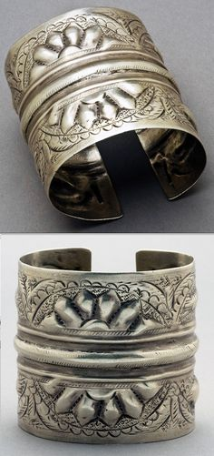 Antique North African Coin Silver Bracelet || $398