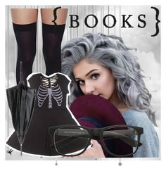 """""""( BOOKS)"""" by kiaraloops ❤ liked on Polyvore featuring Leg Avenue and Jean-Paul Gaultier"""