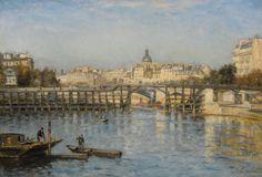 Stanislas Lepine - Paris, La Seine au pont de l'estacade, 1880 | Flickr - Photo Sharing!