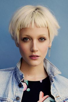 Image result for short curly platinum bob with bangs