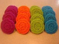 Crochet kitchen scrubbies whip up so quickly.  Great gifts to keep on hand.