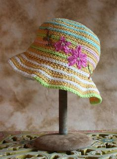 Crochet easter items | Items similar to Buttercream Yellow Crocheted Easter Hat 4T-young teen ...