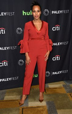 "Kerry Washington arrives at the screening and panel for ""Scandal""  at The Paley Center For Media's 34th Annual PaleyFest Los Angeles at Dolby Theatre on March 26, 2017 in Hollywood, California"