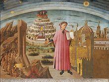 Domenico di Michelino - Dante con in mano la Divina Commedia - 1465 - Santa Maria del Fiore, Firenze