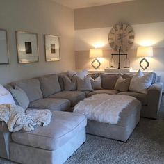 "3,486 Likes, 56 Comments - ANTIQUE FARMHOUSE (@antiquefarmhouse) on Instagram: ""# @lightbrightallwhite Such a large and comfy couch. We spy our #balancescale. Love this room and…"""