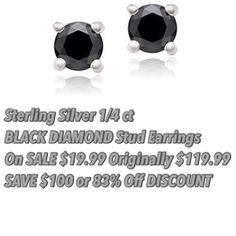 Weekly Sundays Savings Summary December 2014 Fourth Week – Last Weeks Offerings in Review 12/21/2014 to 12/27/2014 - STACKING COINS SAVING MONEY save $100 on 1/4 carat black diamond stud earrings