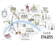 alice tait illustrated map of paris