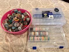 Tackle box for washi storage