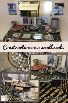 My new discovery area. Small scale construction with a castle twist. Construction Area Eyfs, Construction Area Early Years, Castles Ks1, Deconstructed Role Play, Castles Topic, Castle Classroom, Investigation Area, Creative Activities, Creative Area Eyfs